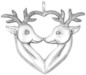 -,3679 Reindeers Sterling Silver Christmas Ornament by Hand & Hammer