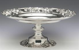 ",GRAPES THEMED PEDASTALED BOWL BY REED & BARTON STERLING SILVER 18.20 TROY OUNCES  10"" DIAMETER 4"" TALL"