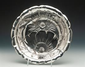 ",POPPY FLOWER BOWL MADE BY WALLACE #123 STERLING SILVER 13.25 TROY OUNCES 9.8"" DIAMETER"