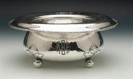 ",GORHAM HAMMERED STERLING BOWL WITH BALL FEET 18.05 TROY OUNCES 9"" DIAMETER AND 4"" HIGH   BEAUTIFUL PIECE!"