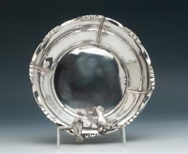 ",BIRDS PERCHED ON BRANCH BOWL REMINISCENT OF GORHAM BIRDS NEST PATTERN-BOWL MADE IN AUSTRIAN OF SILVER WEIGHT 7.6 TROY OUNCES 7""DIAMETER 3""H"