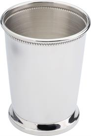 "-EMPIRE #84 BEADED JULEP CUP. STERLING SILVER. 4 1/8"" TALL X 3.25"" DIAMETER ACROSS TOP. MADE IN USA. MSRP $1050 SPECIAL SALE PRICING 1-15-19"