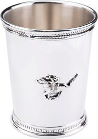 "-,HORSE & JOCKEY JULEP CUP, EMPIRE 3.5"" TALL AND 3"" DIAMETER ACCROSS THE TOP, NEW FROM ITALY"