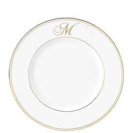 -SCRIPT SINGLE LETTER MONOGRAM ACCENT PLATE. AVAILABLE IN LETTERS A THROUGH Z.