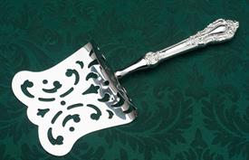 _NEW HH HOODED ASPARAGUS. STERLING HANDLE, SILVER PLATED SERVER.