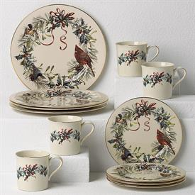 -12 PIECE SET. INCLUDES 4 DINNER PLATES, 4 SALAD PLATES, & 4 MUGS. MSRP $768.00
