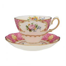 -TEA CUP & SAUCER. HAND WASH. 6.5 OZ. CAPACITY.