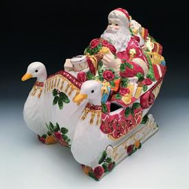 ",SANTA IN HIS SLEIGH SOUP TUREEN. SEASONS OF COLOR SERIES. 12.5"" LONG, 11.5"" TALL, 8"" WIDE"