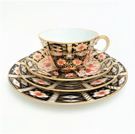 ",4-PIECE TEA CUP, SAUCER, BREAD PLATE & SALAD PLATE SET. 7.2"" SALAD, 6.25"" BREAD, 5.3"" SAUCER, 2.1""  TALL CUP"