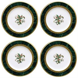 -SET OF 4 HOLIDAY ACCENT PLATES, 8.5""
