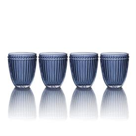 -BLUE DOUBLE OLD FASHIONED GLASS, SET OF 4