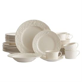 -40 PIECE SET. INCLUDES 8 EACH DINNER PLATES, SALAD PLATES, RIM SOUP BOWLS, TEA CUPS, & SAUCERS. MSRP $808.00