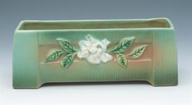 ",GARDENIA GREEN 658-8 WINDOW BOX PLANTER 658-8.  8.75""L X 3.25""T X 2.5""W HAS CRAZING ON BOTTOM"