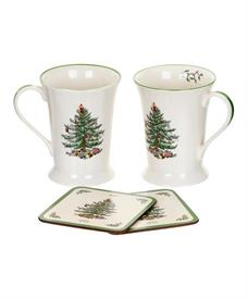 -SET OF 2 MUGS WITH PIMPERNEL CAOSTERS.