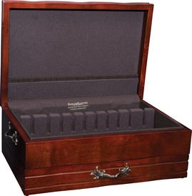 "-:$570M MAHOGANY 1 DRAWER HOLDS 180 PIECES  17"" X 11-1/2"" X 6-3/4"""