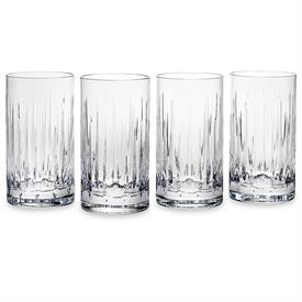 "-SET OF 4 HIGHBALL GLASSES. 4.25"" TALL. HAND WASH. BREAKAGE REPLACEMENT AVAILABLE."
