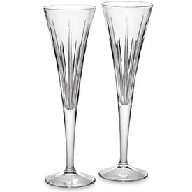 "-SET OF 2 TOASTING FLUTES. 10.5"" TALL, 8 OZ. CAPACITY. HAND WASH. BREAKAGE REPLACEMENT AVAILABLE."