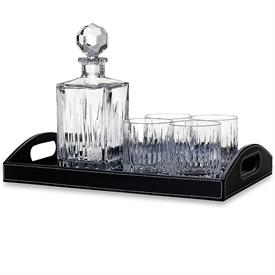 -DECANTER AND 4 DOF WITH LEATHER TRAY