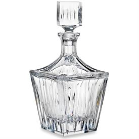 "-WIDE SQUARE DECANTER. 10.8"" TALL"