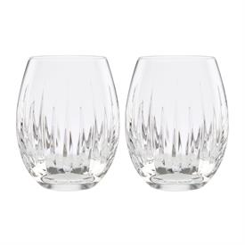 -SET OF 2 STEMLESS WINE GLASSES. 18 OZ. CAPACITY.