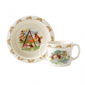 -,2-PIECE BABY SET. INCLUDES BOWL & 2-HANDLE MUG. DISHWASHER & MICROWAVE SAFE.