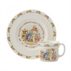 -CHRISTENING 2 PIECE NURSERYWARE SET. INCLUDES BOWL & MUG