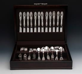 ,.66 Piece Estate Sterling Silver Set Service for 12 Grand Duchess By Towle Sterling Silver Flatware Boxed Set Was: $4,327 Weight: 120.20toz