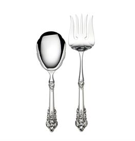 ,_$Serving Set 2 Piece 75th Annivesary of Grande Baroque by Wallace Sterling Silver: Includes: HH Rice Server and HH Meat Fork Hollow Handle