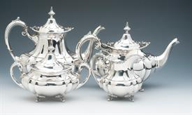 ",.4PC. TEA & COFFEE SET STERLING SILVER HAMPTON COURT BY REED & BARTON WEIGHS 74.95 TROY OUNCES CONDITION A 9 OUT OF 10 COFFEE 8.5""H"