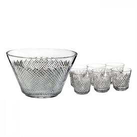 -60TH ANNIVERSARY PUNCH BOWL & SIX CUPS SET. LIMITED EDITION OF 260