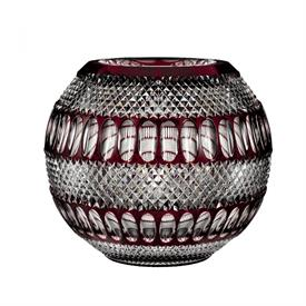 "-12"" RUBY ROSE BOWL, 60TH ANNIVERSARY"