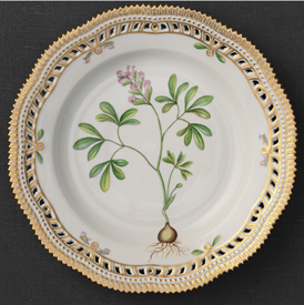 """-DINNER PLATE WITH OPEN BORDER, 9.75"""""""