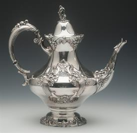 ".TEA POT. 10.5"" KING FRANCIS SILVER PLATED"