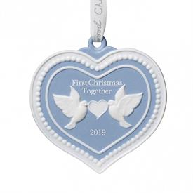 "_,2019 OUR FIRST CHRISTMAS TOGETHER ORNAMENT. 3.3"" LONG, 3.3"" WIDE, .4"" DEEP"