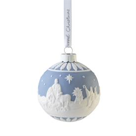 """-,2021 NATIVITY BAUBLE ORNAMENT. 3"""" WIDE, 3.15"""" TALL"""