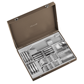 -48-PIECE FLATWARE SET WITH CHEST. SERVICE FOR 12