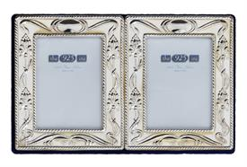 "-108-D 1.25X1.75"" DOUBLE CHARLES FRAME. VELVET BACK.  4"" LONG, 2.5"" TALL"