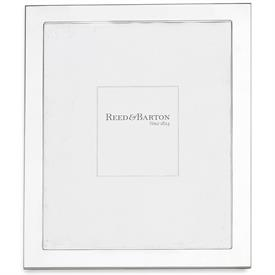 """-8X10"""" NARROW BORDER SILVERPLATE FRAME. TARNISH RESISTANT. BREAKAGE REPLACEMENT AVAILABLE."""