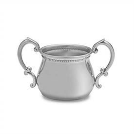 -899-2 BEADED DOUBLE HANDLE BABY CUP IN PEWTER.