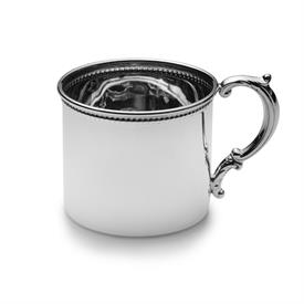 "-$ ,#98 BEADED STERLING BABY CUP 2 1/4"" IN HEIGHT 2.55"" DIAMETER MADE BY EMPIRE SILVER  ON SALE!"