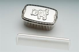 _,2193 BOYS TEDDY BRUSH & COMB SET STERLING