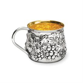 -,BABY CUP W/GRAPES STERLING SILVER MADE BY GALMER OF NEW YORK