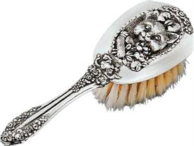 "-BABY GIRL BRUSH. 5""LONG  STERLING SILVER MADE BY GALMER OF NEW YORK"