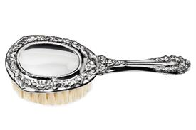 -BABY GIRL PLAIN BRUSH. G-BP STERLING SILVER BY GALMER OF NEW YORK
