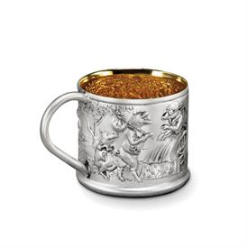 -FAIRY TAIL PIGS CUP STERLING SILVER MADE BY GALMER OF NEW YORK