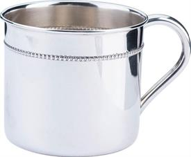 """-,$X175 HAMPSHIRE CUP 2 1/4""""H.HOLDS 6OZROW OF BEADING 1/2"""" FROM RIM.PLAIN HANDLE     STERLING"""
