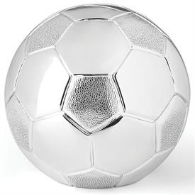 "-SILVERPLATE SOCCER BALL BANK. 4"" WIDE"