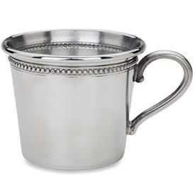 -$P811 BABY BEADS PEWTER CUP. NON-TARNISH. HAND WASH. BREAKAGE REPLACEMENT AVAILABLE.
