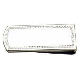 """-$6911 CHARLESTON MONEY CLIP. 2"""" LONG. TARNISH RESISTANT SILVER-PLATE. BREAKAGE REPLACEMENT AVAILABLE"""