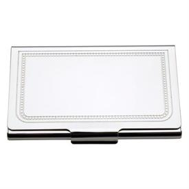 "-$6811 CHARLESTON CARD CASE.3.75"" LONG, 2"" TALL. TARNISH RESISTANT SILVER-PLATE. BREAKAGE REPLACEMENT AVAILABLE."